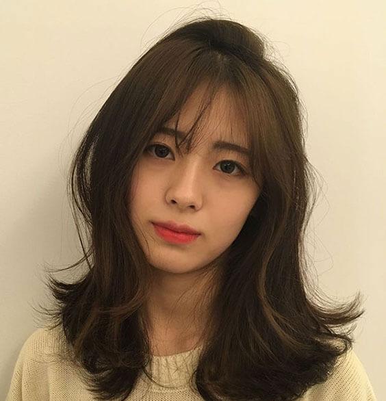 Tóc layer ngắn cho mặt dài